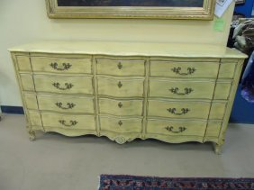 Vintage French Style Faux Painted Chest Of Drawers