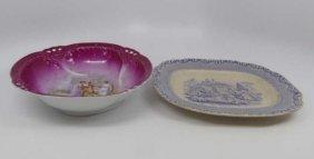English Transferware & Carlsbad Austria Porcelain