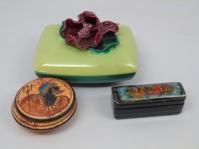 Russian, Greek & Majolica Table Boxes