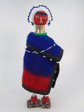 Vintage Handmade Beaded Ndebele Tribe African Doll