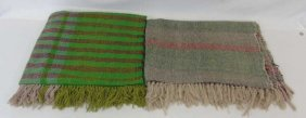 2 Vintage Woven Wool Makia Rugs From New Guinea