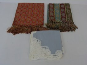 3 Table Cloths - Silk & Linen