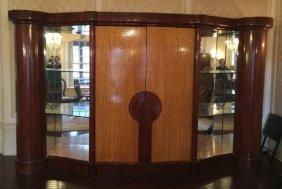 Large Custom Art Deco Wall Unit Cabinet