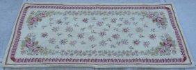 Vintage Floral Hand Hooked Wool Rug