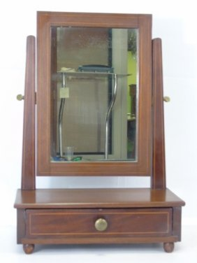 Antique Mahogany Shaving Stand With Mirror