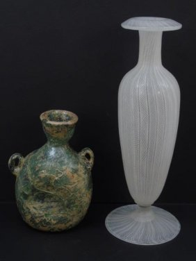 Murano & Greek Blown Art Glass Vases