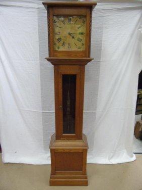 Antique 19th C. Oak Grandfather Clock