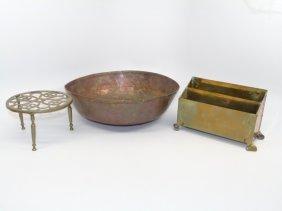 Antique English Copper & Brass Kitchen Items