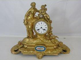 Tiffany & Co Gilt Bronze Clock By Samuel Marti