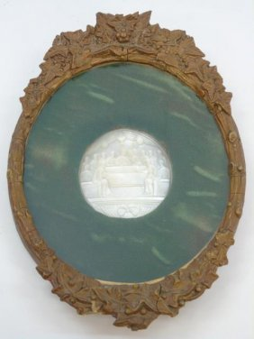 Antique 19th C Mother Of Pearl Last Supper Carving