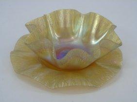 Antique Louis Comfort Tiffany Favrile Glass Bowl