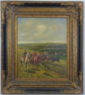 Graham - Oil Painting Of An English Hunt Scene