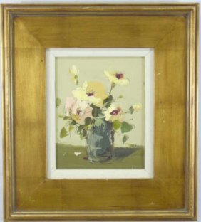 C Stewart Contemporary Floral Still Life Painting