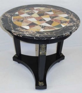 Antique Italian Pietra Dura Specimen Marble Table