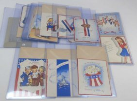 """Collection Of Wwii Postcards """"best Wishes"""""""