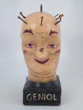 Vintage The Head Of Geniol Composition Statue