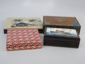 Assorted Cigar Boxes - Abercrombie, Etc