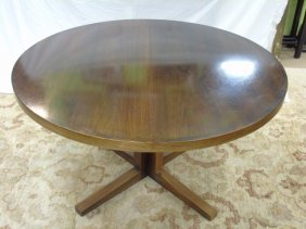 Mid Century Maurice Villency Round Dining Table