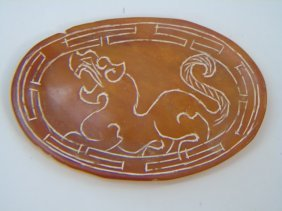 Chinese Carved Jade Or Hardstone Disc