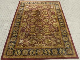 Large Persian Oriental Hand Knotted Wool Carpet