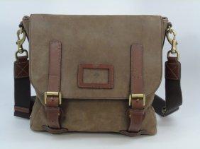 Mulberry Leather Satchel / Messenger Bag W/ Strap