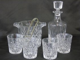Collection Crystal Bar Items Tumblers Decanter Ice