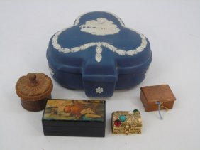 Collection Antique Boxes - Wedgwood Treen Lacquer