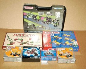 French Meccano - A Quantity Of Late Sets