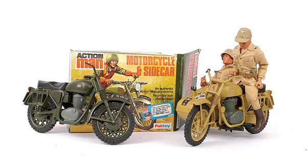 3519 action man by palitoy motorcycle and sidecar lot 3519. Black Bedroom Furniture Sets. Home Design Ideas