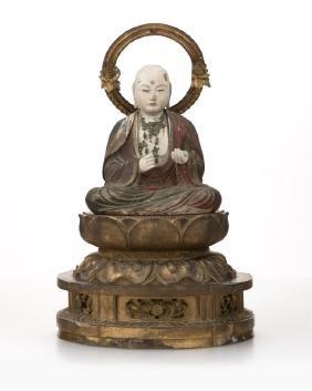 A Japanese Figure Of The Bodhisattva Ksitigarbha