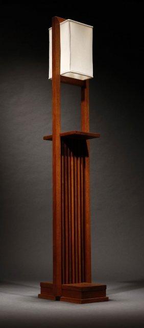 1142 a frank lloyd wright designed walnut floor lamp for Frank lloyd wright flooring