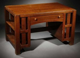 A Limbert Arts & Crafts Oak Writing Table #1128