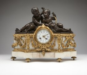 A Napoleon III Gilt And Patinated Bronze And Whit