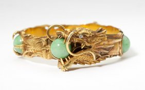 A Jadeite Bangle, By Arthur & Bond, YOKOHAMA