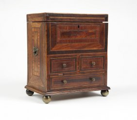 A William & Mary Style Inlaid Jewelry Chest