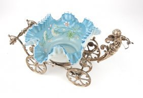 A Victorian Wmf Silver-plated & Glass Centerpiece
