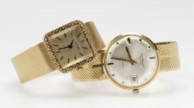 Two Gold Gent's Wristwatches