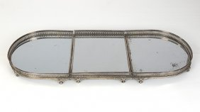 An Old Sheffield Silver-plated Mirrored Plateau