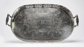 An Elkington Silver-plated Serving Tray