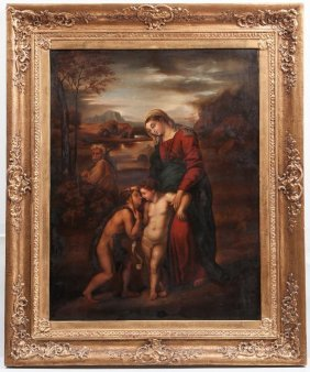 European School, Mary And Jesus With John The Baptist,