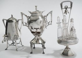 Group Of Three Silver-plated Pieces