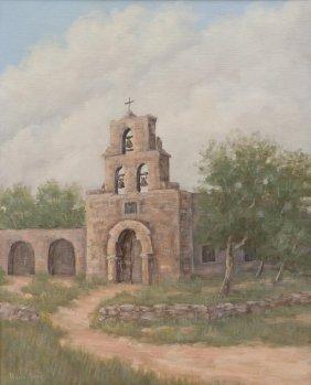 "Vivian Love (1908-1982), ""mission Espada"", Oil"