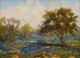 """Santa Duran (1909-2002), """"bluebonnets In Texas"""", 1964"""