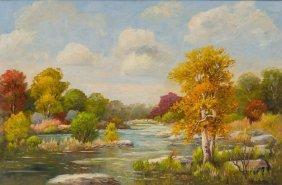 "Santa Duran (1909-2002), ""indian Summer"", Oil"