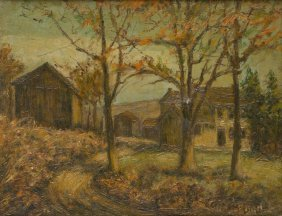 "Ira Mcdade (1867-1951), ""old Homestead Pittsburg"", Oil"