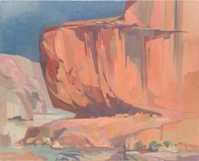 "Laurence Phillip Sisson (b. 1928), ""canyon De Chelly"""