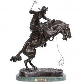 "Frederick Remington (recast), ""bronco Buster"", Bronze"