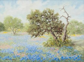 "Hazel Massey (1907-1990), ""the Feel Of Spring"", Oil"