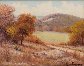 Pedro Lazcano (1909-1973), Texas Landscape, Oil
