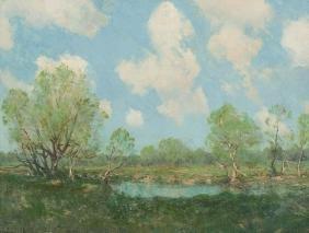 """Julian Onderdonk (1882-1922), """"summer Landscape"""", Oil"""